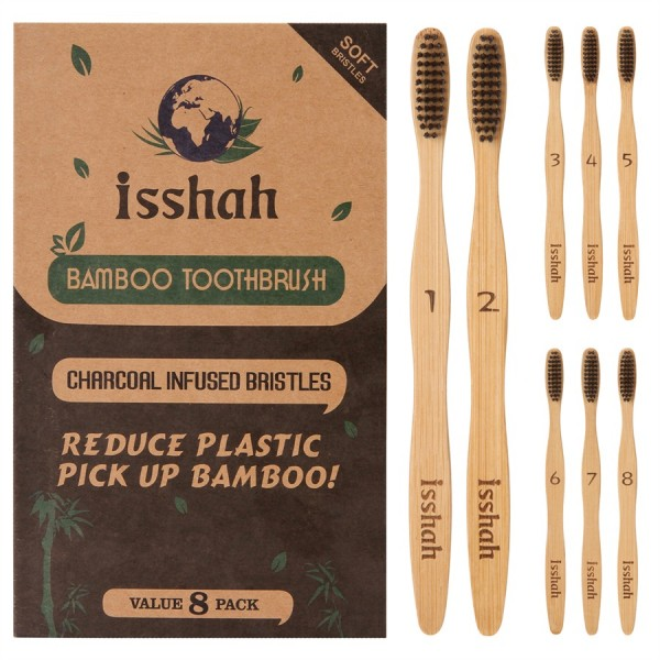 Isshah Biodegradable Organic Charcoal Infused BPA ...